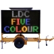 5 Colour VMS Boards C Size Trailer-mounted