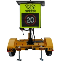 Radar Speed Check Sign - Trailer-mounted