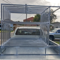 Custom made traffic control sign cages/racks